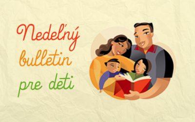 Nedeľný bulletin pre deti