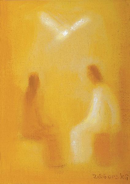 Kristus, Panna Mária a Duch Svätý - akad. maliar Ladislav Záborský