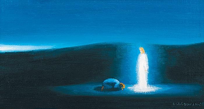 Vzkriesený Kristus a Mária Magdaléna 2 - akad. maliar Ladislav Záborský